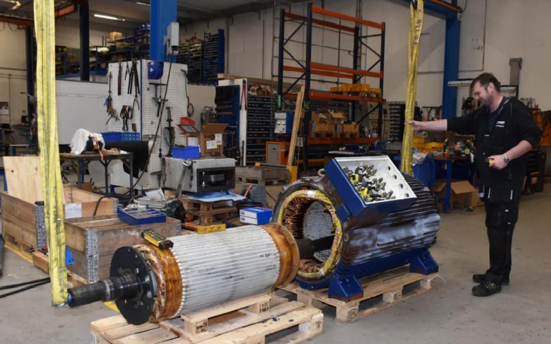 Omvikling af vindmøllegenerator