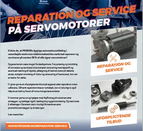 PRONOR reparerer og servicerer på næsten 95% af alle typer servomotorer