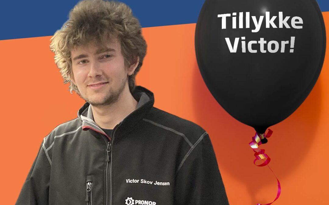Tillykke til Victor – udlært med et 12 tal